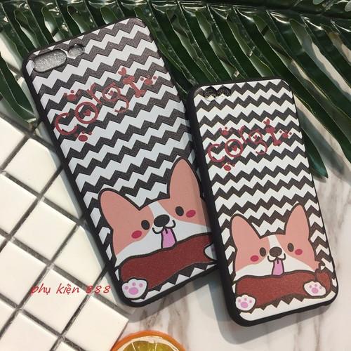 Ốp lưng Iphone 6 6Plus 7 7Plus dẻo Corgi