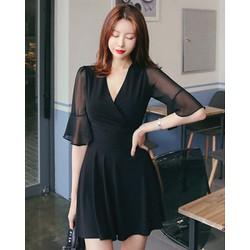 Đầm Xòe Tay Cánh Tiên