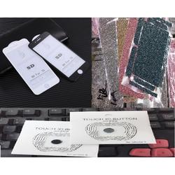 Combo 3 Sản Phẩm Cường Lực 5d - Miếng Dán Skin - Nút Home Iphone