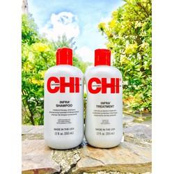 Cặp gội xả dưỡng tóc dành cho tóc khô và hư tổn CHI INFRA 355ml