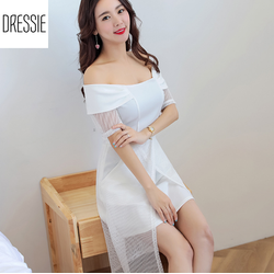 [HÌNH THẬT] Váy Đầm Dự Tiệc Đầm Đi Đám Cưới Cao Cấp DRESSIE -Đen Trắng