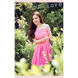 Đầm xòe hồng Phương Trinh 967