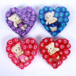 HOA 20 10 Hoa Hồng Trái Tim Kèm Gấu BỎ SỈ
