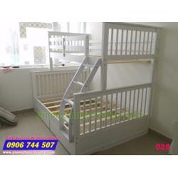 Giường 2 tầng trẻ em giá rẻ 028 Trắng