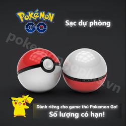 Pin sạc dự phòng Pokeball 12000mAh dành cho tín đồ Pokemon GO