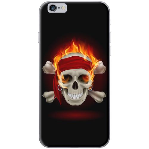 Ốp lưng Iphone 6 Đầu lâu lửa