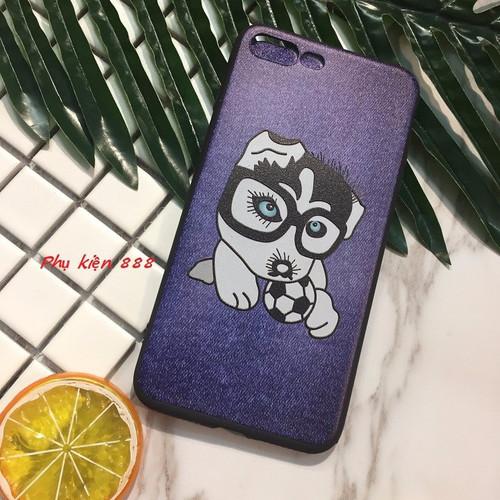 Ốp lưng Iphone 5 6 6Plus 7 7Plus hình chó ôm bóng