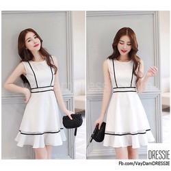 [HÌNH THẬT] Váy Đầm Xòe Chữ A Đẹp Thời Trang Công Sở Dự Tiệc Dạo Phố