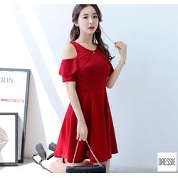 [HÌNH THẬT]Những Mẫu Áo Đầm Xòe Đẹp Thời Trang Cao Cấp Công Sở Dự Tiệc