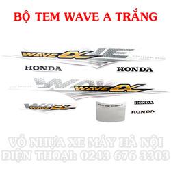 Bộ tem xe Wave A màu trắng