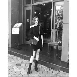 ĐẦM FORM RỘNG LỆCH VAI