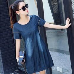 Đầm jean suồn form rộng