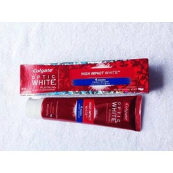 Kem đánh răng Colgate Optic White Platinum High Impact White.
