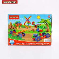 Hộp đồ chơi lắp ráp bản làng Lele Brother 8313-6