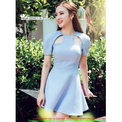 Đầm xòe ngắn thiết kế Cutout quyến rũ như Phương Trinh