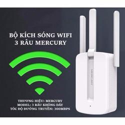 Bộ kích sóng wifi 3 râu Mercury MW310RE- Sóng cực khỏe