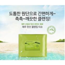 Khăn ướt tẩy trang Nature Republic Jeju Sparkling Cleansing Tissue