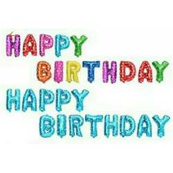 Bong bong Happy Birthday trang tri