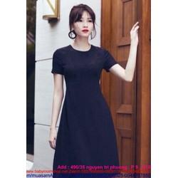 Đầm xòe tay ngắn thiết kế đơn giản xinh như Thu Thảo