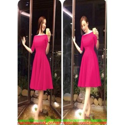 Đầm xòe dư tiệc thiết kế đơn giản xinh đẹp như Phương Trinh