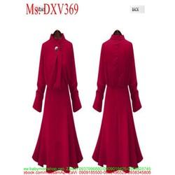 Đầm xòe dự tiệc màu đỏ thiết kế sang trọng và thời trang