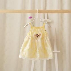 Đầm dây ren cotton cho bé gái