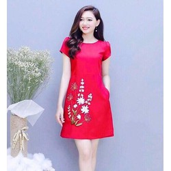 Đầm xòe nữ in hoa HN11904