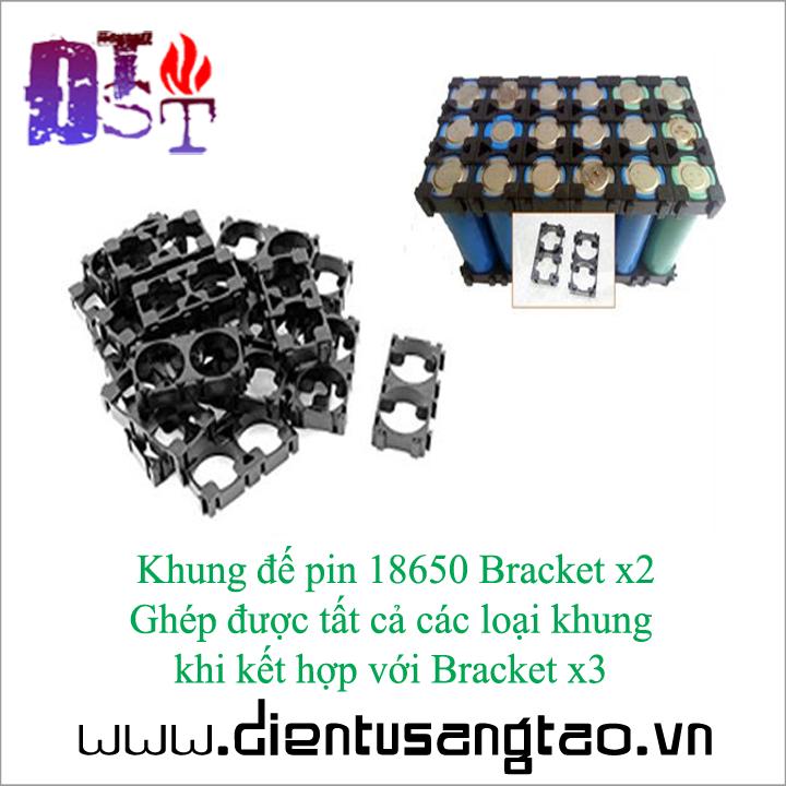 Khung đế pin 18650 Bracket x2  - Bộ 4 chiếc 1