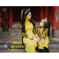 Sét áo dài mẹ và bé