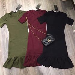 Đầm Ôm Body Đuôi Cá Đủ Màu Kèm Hình Thật