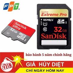 Thẻ nhớ 32GB SanDisk chính hãng bảo hành 5 năm mã SD32