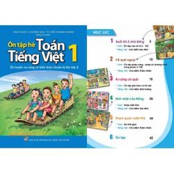 Bộ sản phẩm sách ôn tập hè toán và tiếng việt từ lớp 1 đến 5