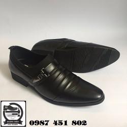 [KHUYẾN MÃI 1 TUẦN ]Giày Da Nam Da Bò  - Xưởng Đóng Giày Hoàng Diệu