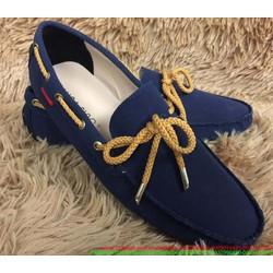 Giày mọi nam công sở da lộn thắt nơ phong cách sành điệu