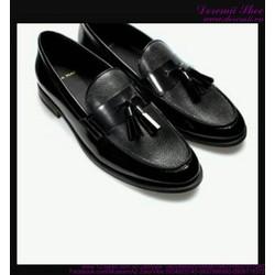 Giày da nam cao cấp thắt nơ mẫu mới cực phong cách