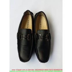Giày mọi da công sở khóa sắt ngang lịch lãm GDNHK45