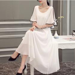 Đầm Maxi trắng sang trọng - Hàng Quảng Châu cao cấp