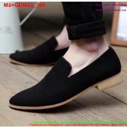 Giày mọi da nam thiết kế đơn giản mà sang trọng