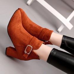 B042V- Giày bốt nữ phong cách Hàn Quốc