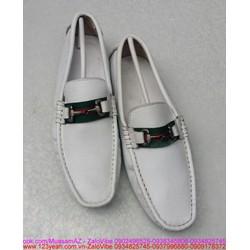 Giày nam da trắng khóa gu sành điệu lịch lãm
