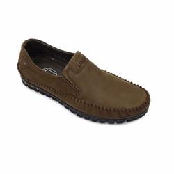 Giày lười da thật màu nâu sang trọng thời trang