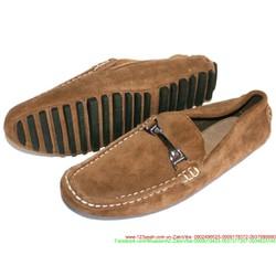 Giày mọi nam da lộn khóa sắt ngang phong cách