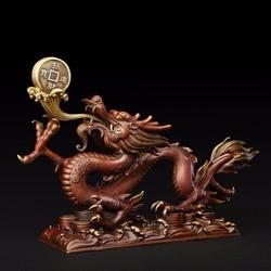 Tượng rồng bằng đồng linh vật phong thủy thờ cúng và trang trí