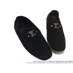 Giày da nhung khóa chữ  phong cách lịch lãm