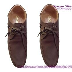 Giày da nam cột dây chất liệu bền đẹp sang trọng GDNHK107