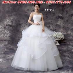 áo cưới cúp ngực màu trắng AC336