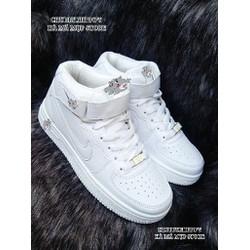 giày NỮ cổ cao trắng siêu chất