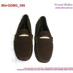 Giày mọi da nam viền chỉ nổi thiết kế nổi bật lịch lãm