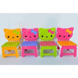 Ghế xếp hình mèo Hello Kitty cao cấp