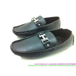 Giày da trơn nam chữ H hermez phong cách